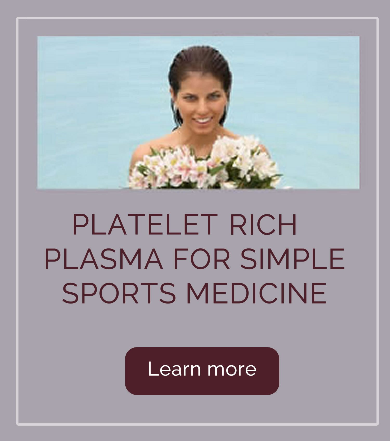 Platelet Rich Plasma for Simple Sports Medicine