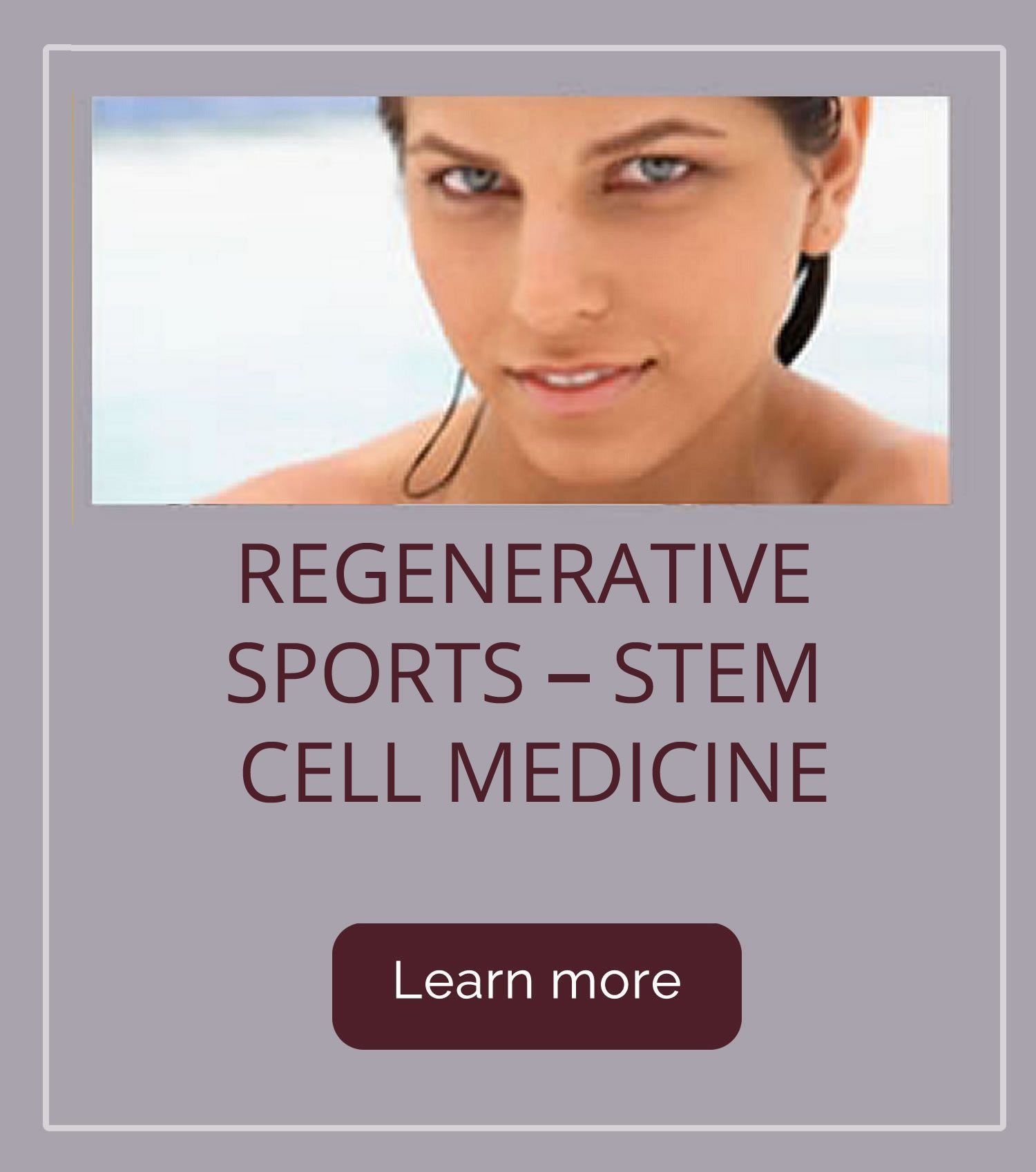 Regenerative Sports - Stem Cell Medicine