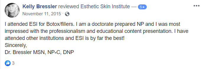 """ESIW Facebook Testimonial"""